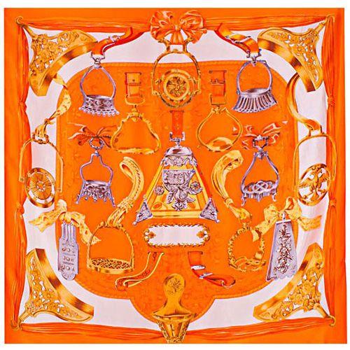 Шелковый платок Eterno оранжевый, фото