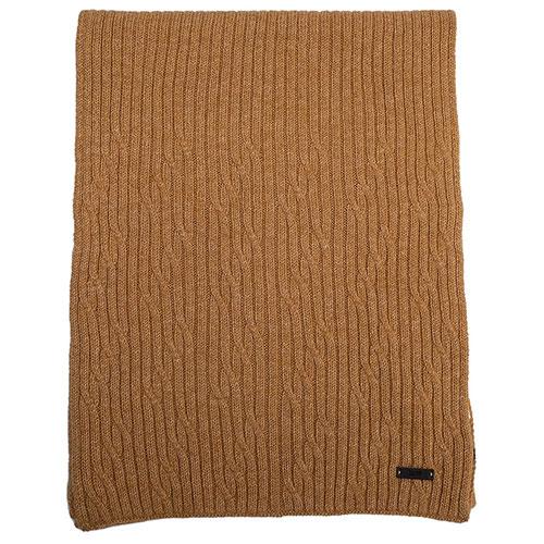 Шерстяной шарф Hugo Boss в светло-коричневом цвете, фото