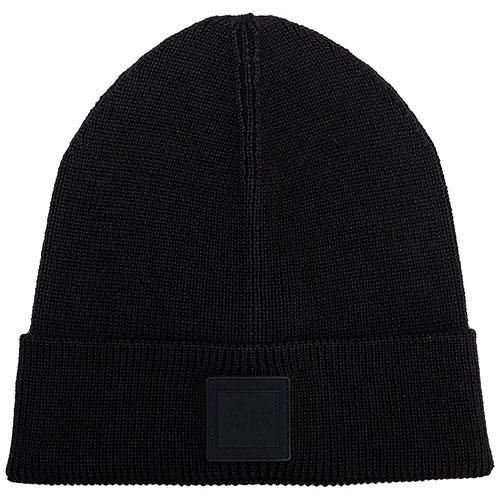 Черная шерстяная шапка Hugo Boss для мужчин, фото