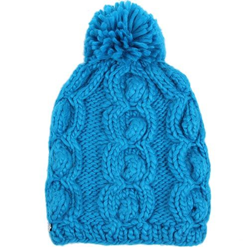 Шапка Hat You синего цвета с балабоном, фото