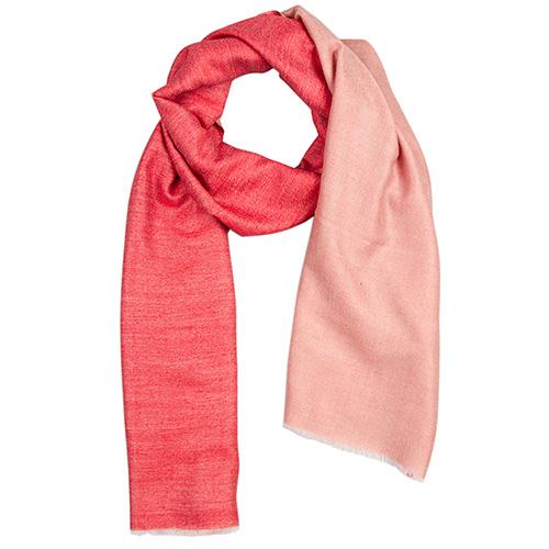 Кашемировый шарф Chadrin двухсторонний красный с бежевым, фото