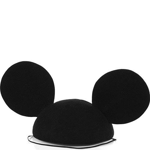 Шляпка-таблетка Ушки Микки Мауса черная, фото