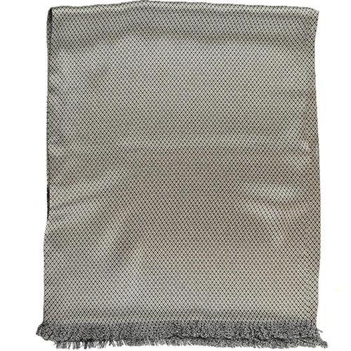 Шелковый шарф Messori светло-серый с мелким изысканным рисунком, фото