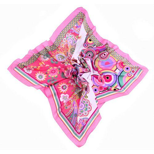 Платок Fattorseta В ритме сальсы розового цвета, фото