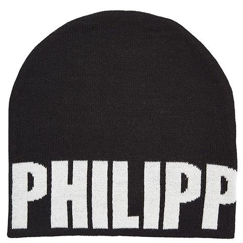 Детская шапка Philipp Plein черная с лого, фото