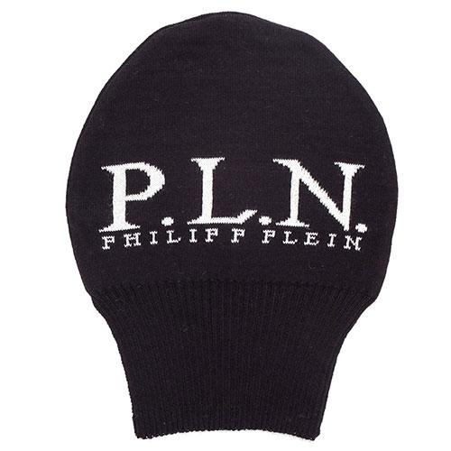Длинная шапка Philipp Plein черного цвета, фото
