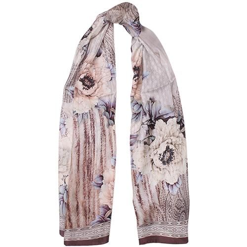 Шелковый платок Fattorseta цвета мокко, фото