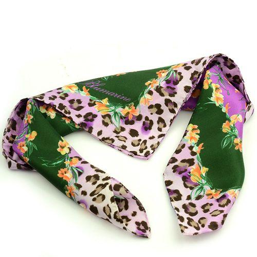 Шейный платок Blumarine с цветочно-животным принтом, фото