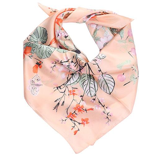 Платок Fattorseta из шелка с цветочным принтом, фото