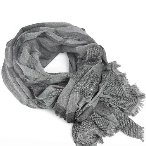 Палантин Armani Collezioni серый с полосами, фото