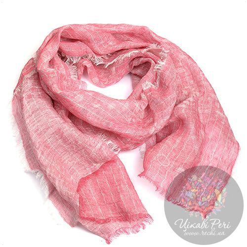 Шарф Armani Collezioni льняной тонкий розовый большой, фото