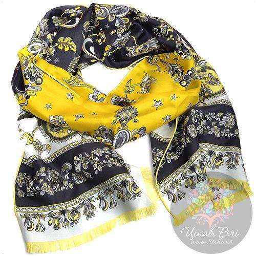 Шарф Emilio Pucci серо-желтый, фото