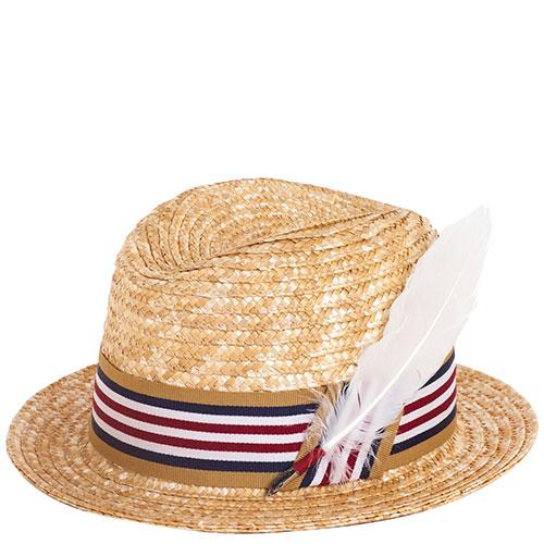 Мужская шляпа Shapelie Хьюго с декором-пером, фото