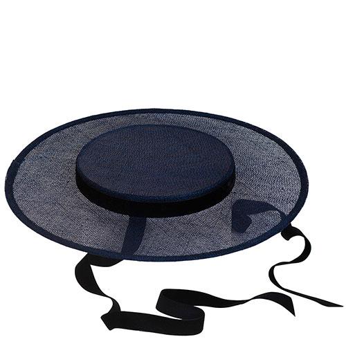 Темно-синяя шляпа Shapelie Джейн на завязках, фото
