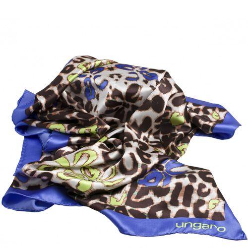 Платок Ungaro «Petali» шелковый со стилизованным цветочным принтом, фото