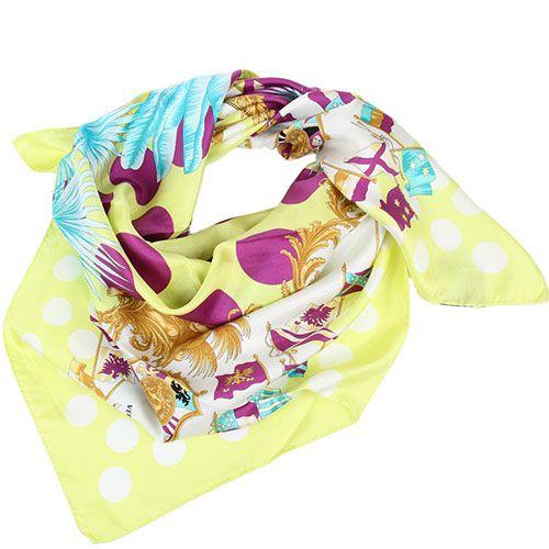 Яркий платок Versace из натурального шелка, фото