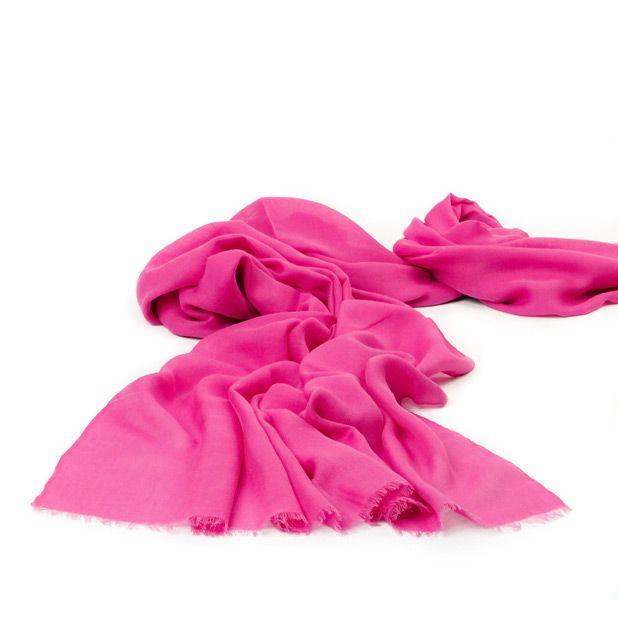 Летний розовый палантин Fattorseta Фуксия