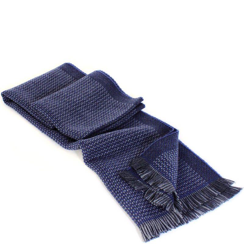 Шерстяной шарф Maalbi синего цвета