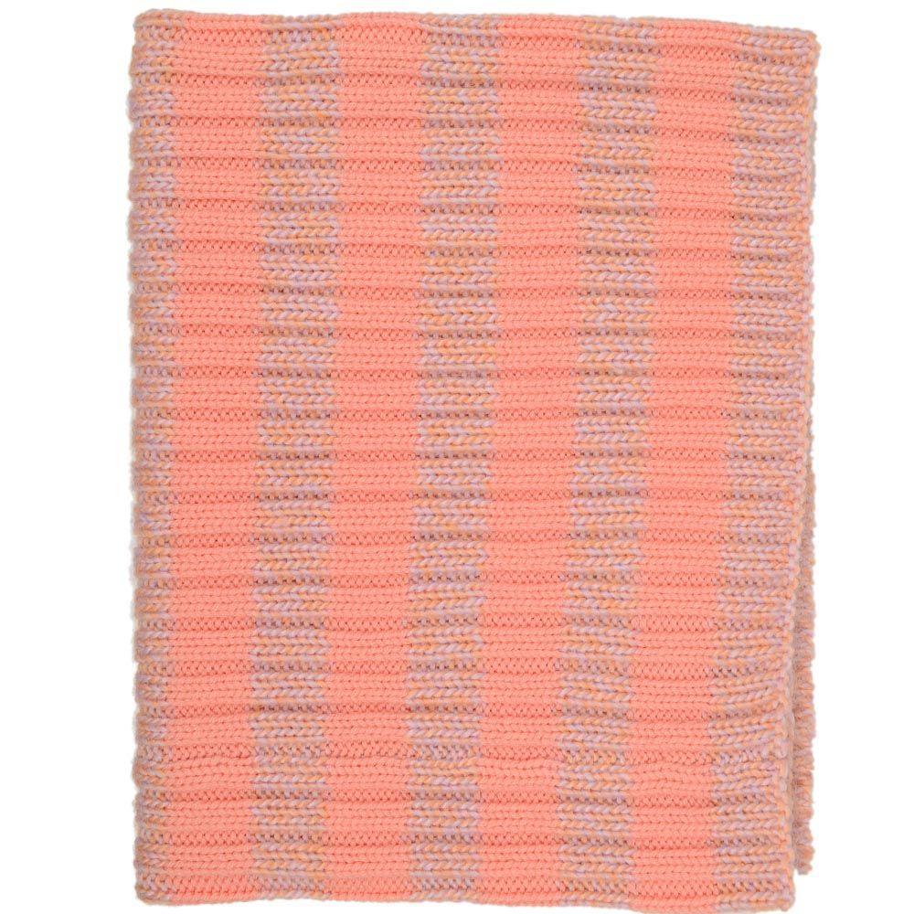 Теплый шарф-труба Sonia персиковый крупной вязки