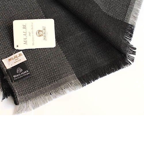Шарф Maalbi с широкими полосами в серых тонах