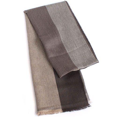 Шерстяной шарф Maalbi в коричневую полоску