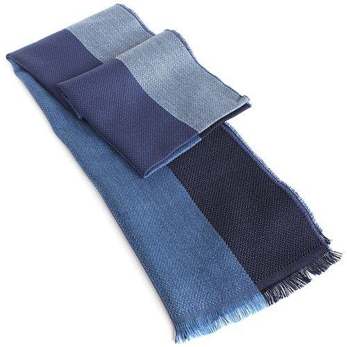 Шарф Maalbi из шерсти в синюю полоску