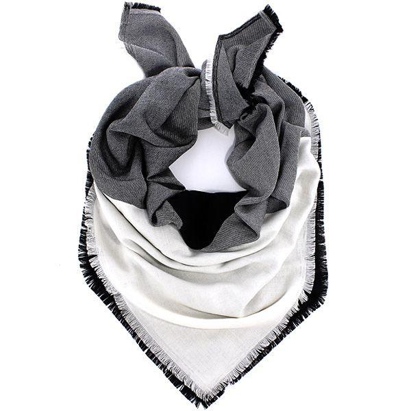 Шерстяной платок Maalbi черно-белый