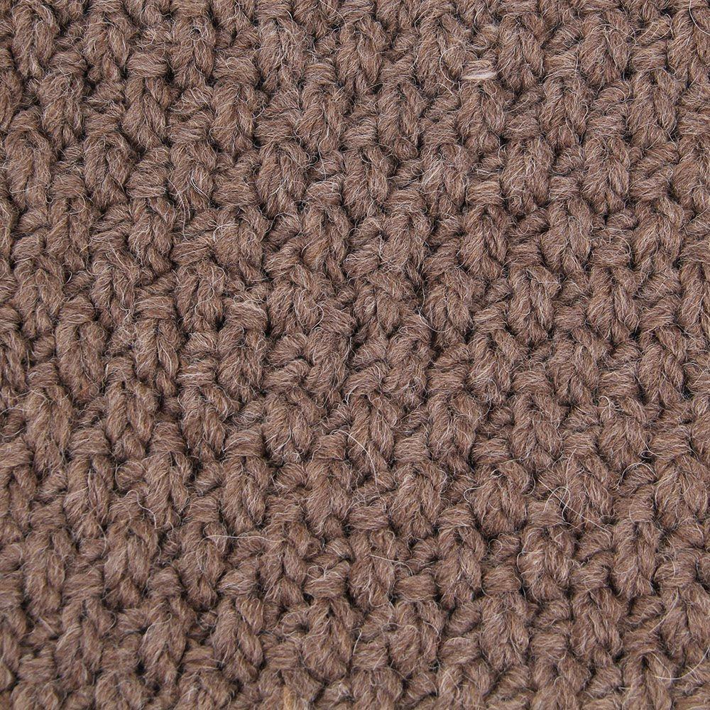Шарф-хомут Le Camp коричневого цвета крупной вязки