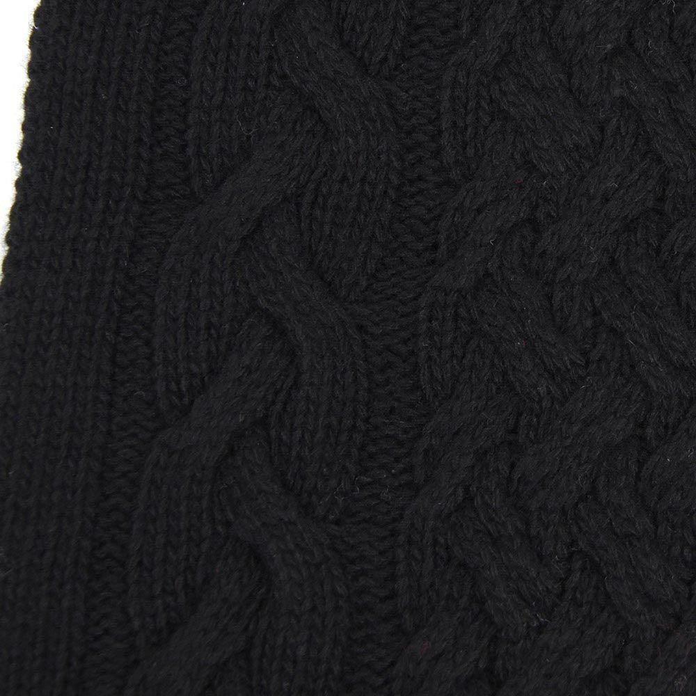 Шарф-хомут Le Camp Cashmere тонкий вязаный черного цвета