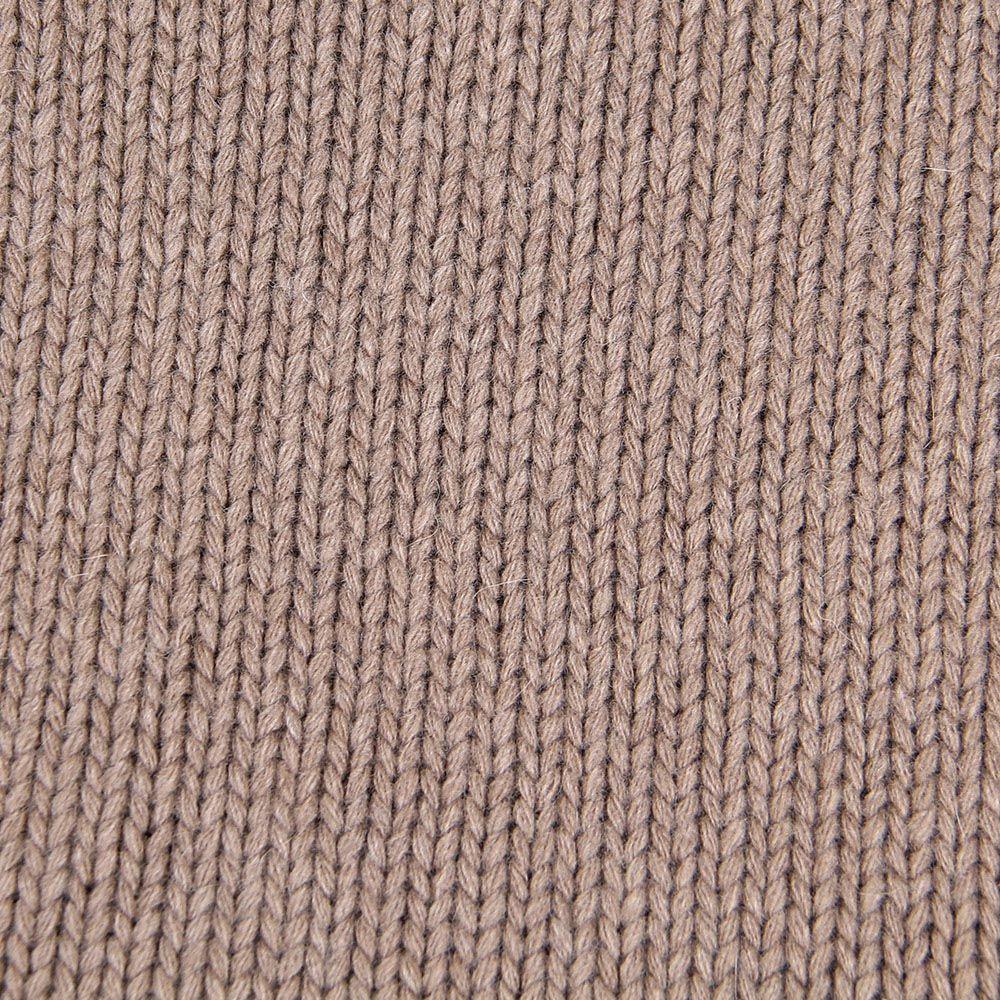 Шарф-хомут Le Camp Cashmere тонкий гладкая вязка коричневого цвета