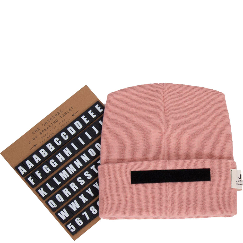 Розовая шапка J.B4 Just Before с липучкой