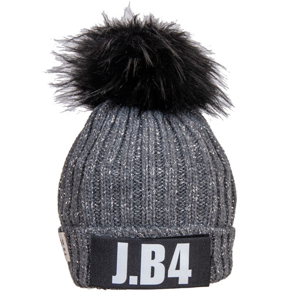 Серая шапка J.B4 Just Before с помпоном