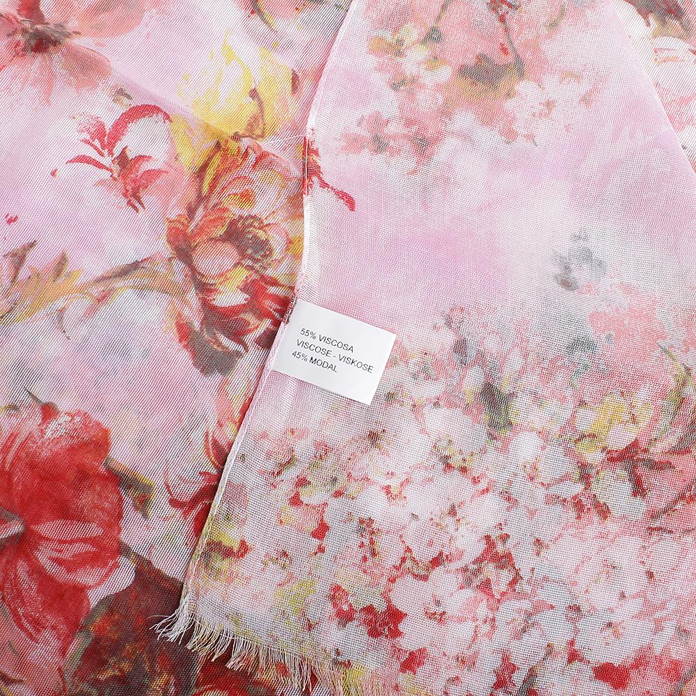 Розовый палантин Fattorseta Тропический закат