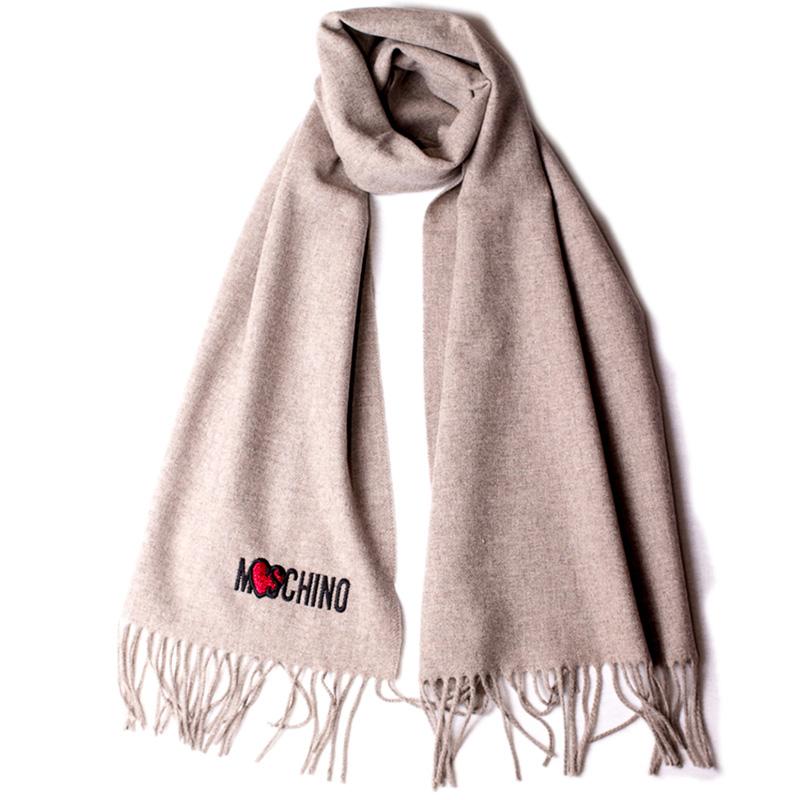 Женский шарф Moschino с бахромой