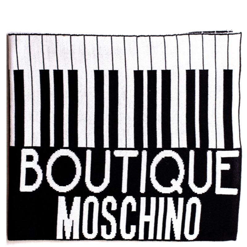 Шарф Boutique Moschino черно-белые клавиши