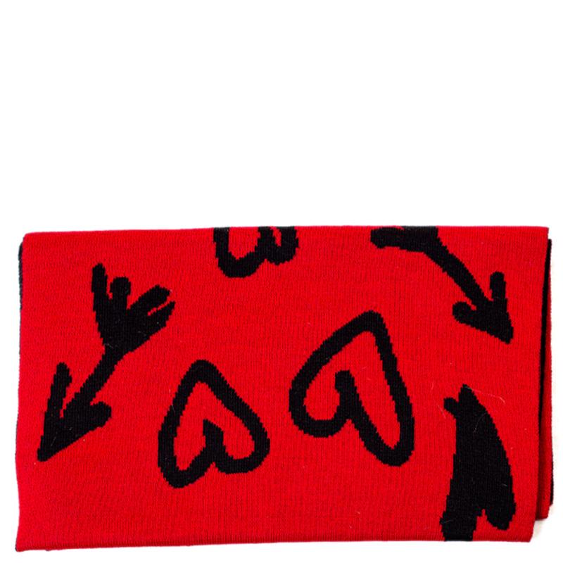Двусторонний шарф Boutique Moschino с брендированием