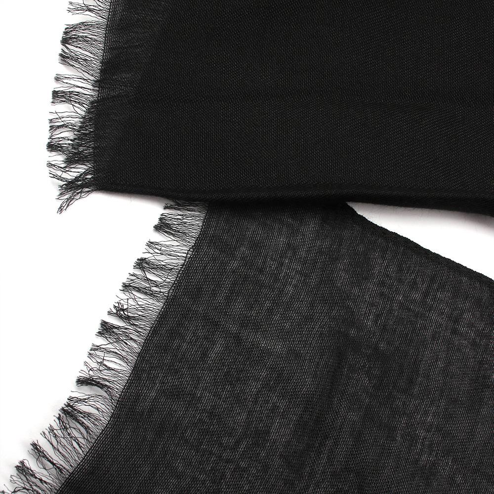 Палантин Fattorseta из черной ткани