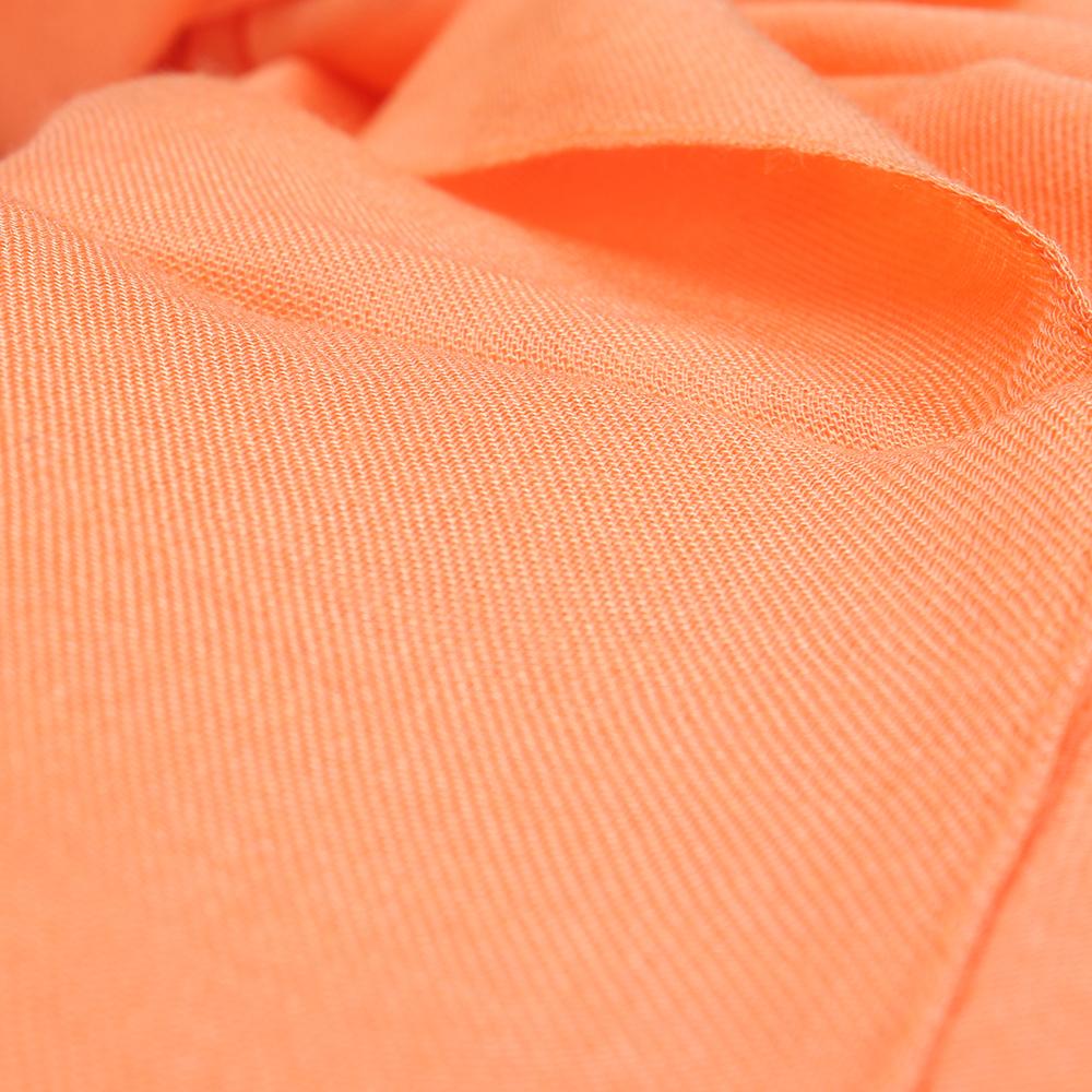 Палантин Fattorseta однотонного оранжевого цвета