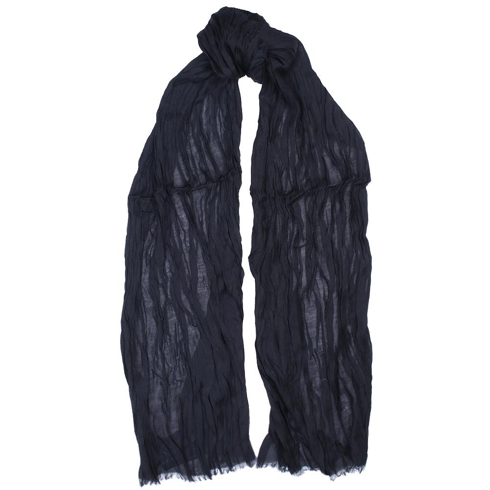 Однотонный палантин Fattorseta черного цвета