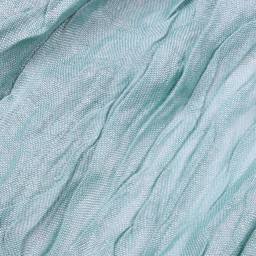 Однотонный палантин Fattorseta цвета морской волны