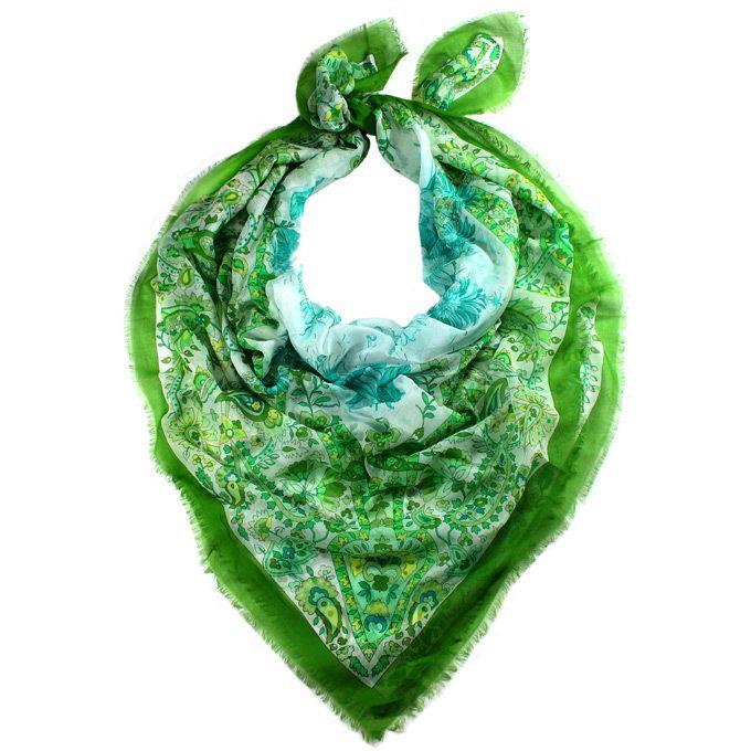 Платок-парео Fattorseta Африканский шик в оттенках зеленого