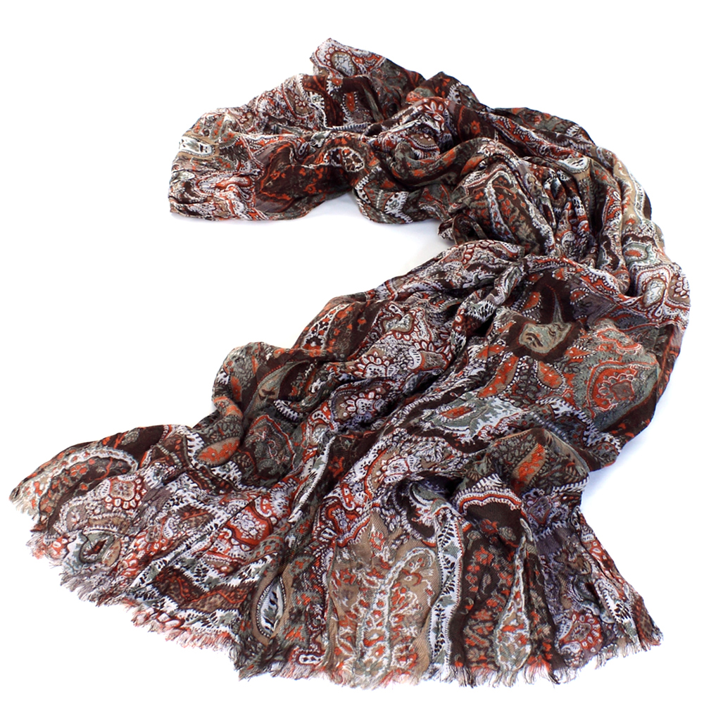 Женский коричневый палантин Maalbi из модала