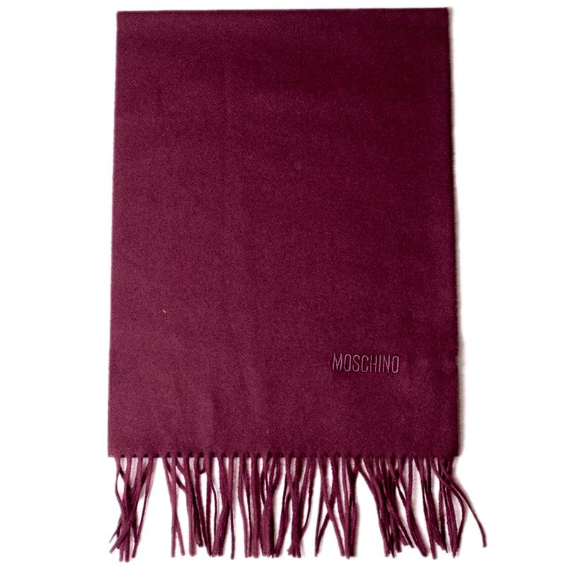 Шерстяной шарф Moschino с бахромой