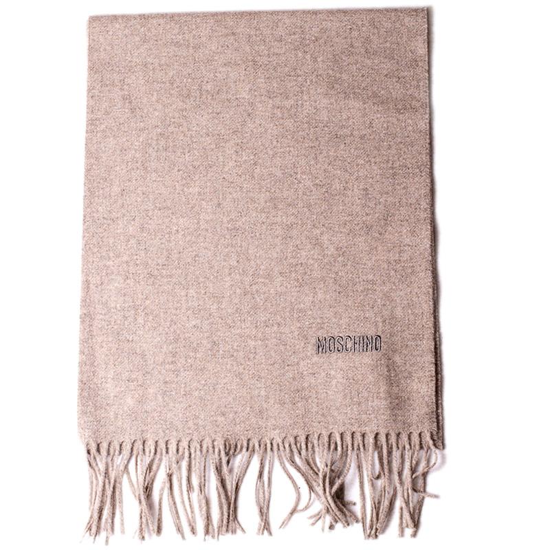 Коричневый шарф Moschino из шерсти мериноса
