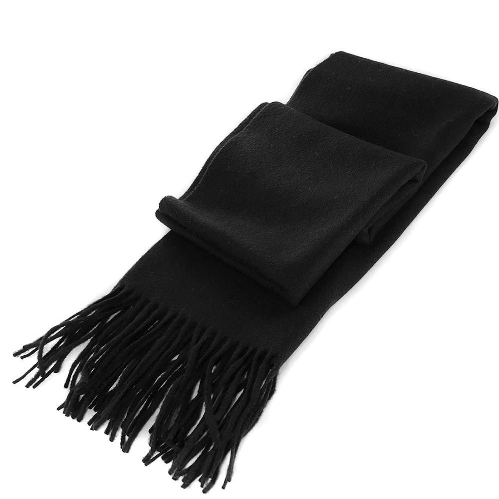 Шарф Maalbi черного цвета с длинной бахромой