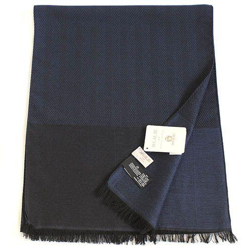 Шарф Maalbi из шерсти и шелка джинсового цвета