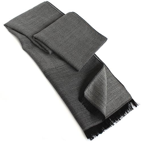 Шарф Maalbi тёмно-серого цвета из шелка и шерсти