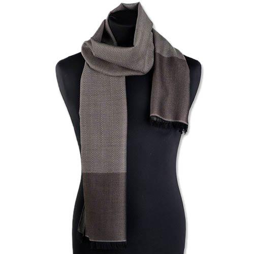 Теплый шерстяной шарф Maalbi коричневого цвета