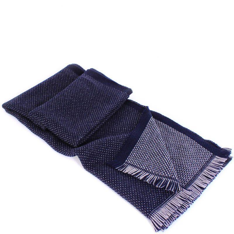 Шерстяной шарф Maalbi глубокого синего цвета