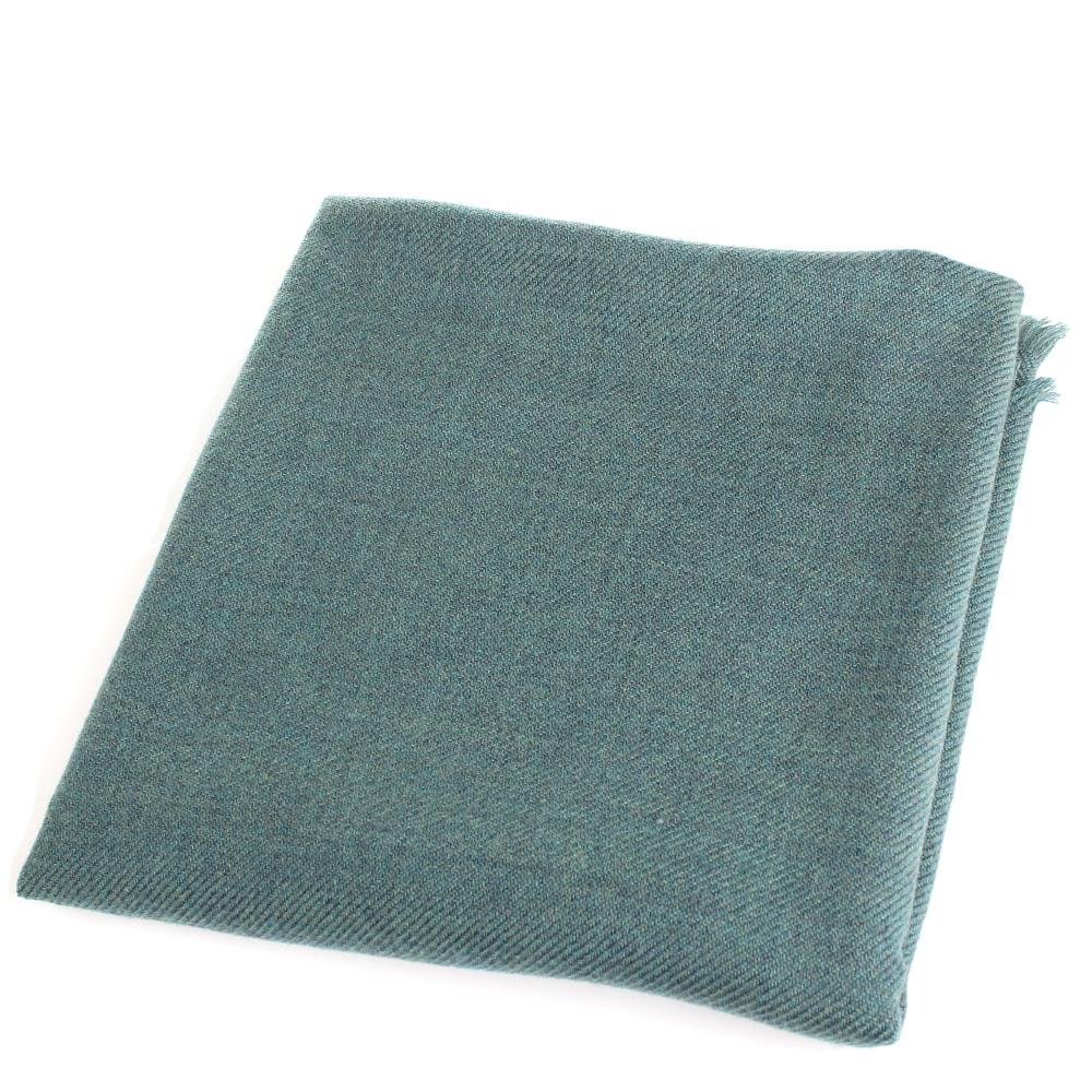 Зеленый однотонный платок Maalbi из шерсти